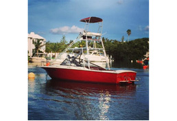WINTER SPECIAL Price reduced! 25ft Shallow draft Motorboat with tuna tower. Twin helm.